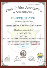 Field Guides of South Africa Certificate